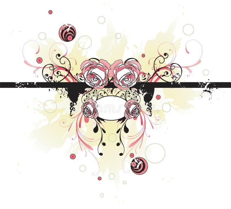 Backgound floral ilustração do vetor