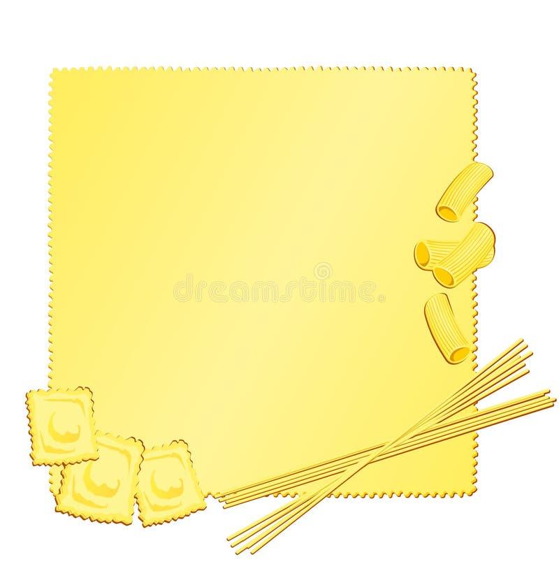 Backgound italien de pâtes illustration stock