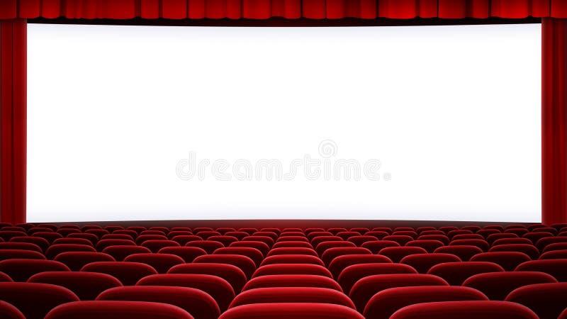 Backgound large d'écran de cinéma (16:9 d'allongement photos stock