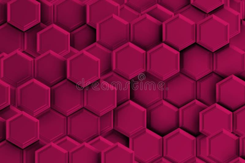 Backgound púrpura con hexágonos libre illustration