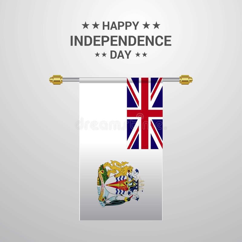 Backgr accrochant de drapeau de Jour de la Déclaration d'Indépendance antarctique britannique de territoire illustration de vecteur
