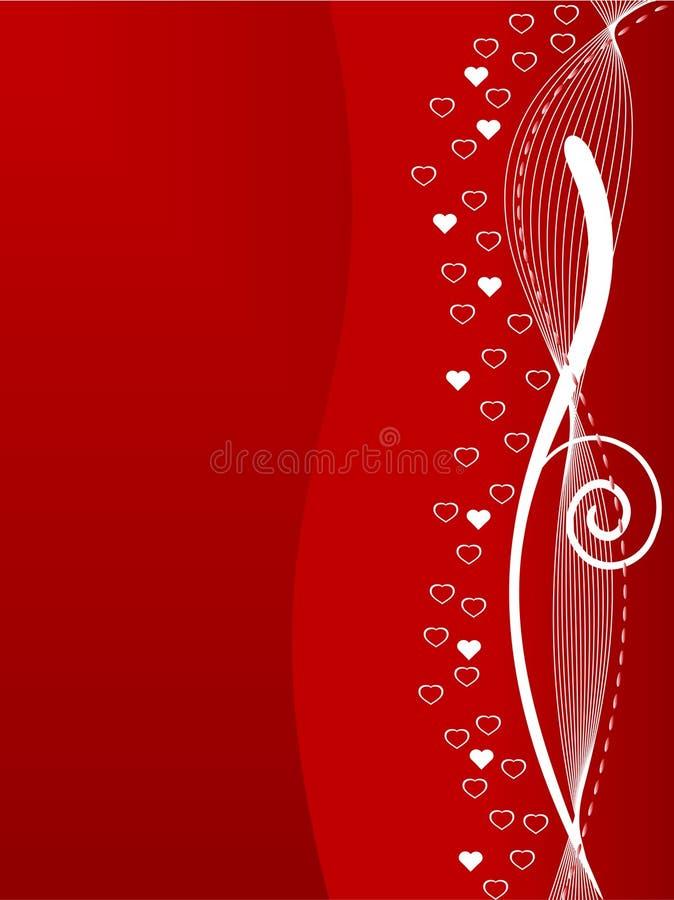Backgr astratto di giorno dei biglietti di S. Valentino illustrazione di stock