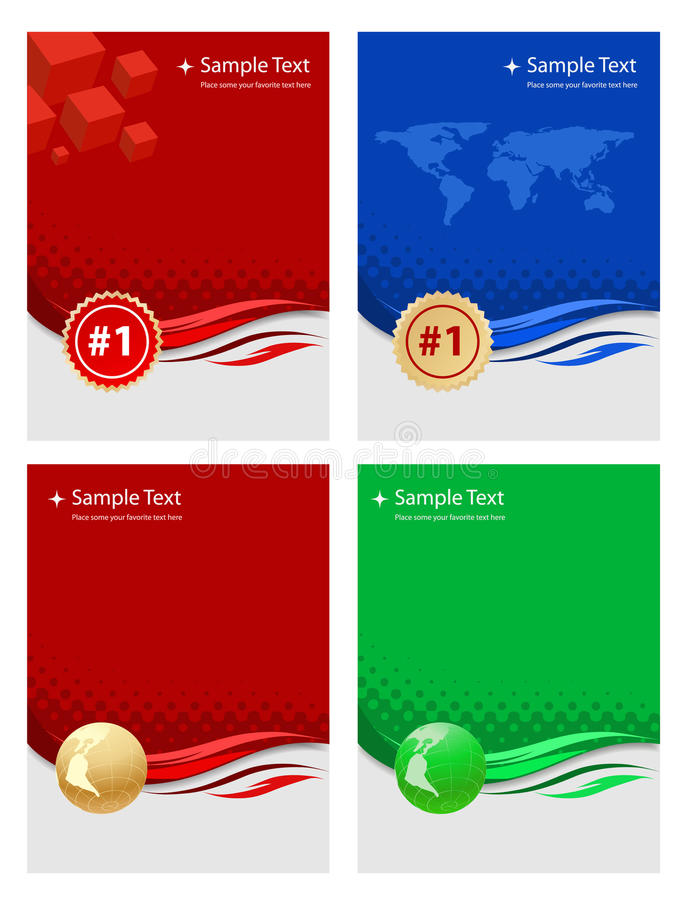 Backgr business. Vector business templates on white stock illustration