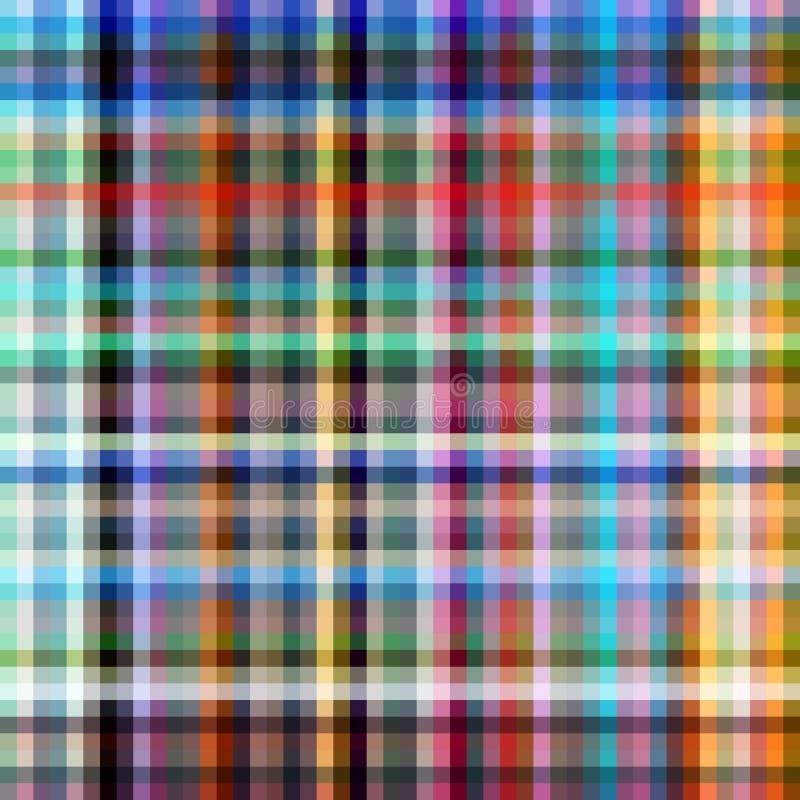 Backgr coloré de configuration de Pixel illustration de vecteur