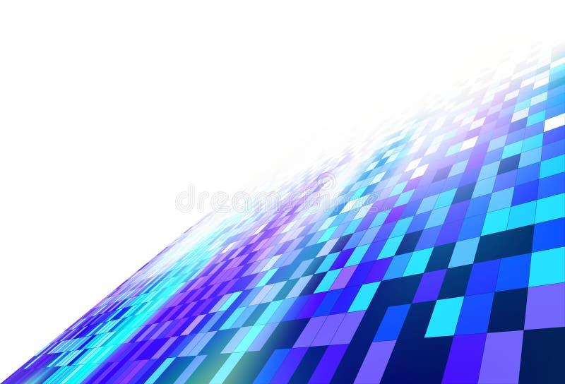 Backgr digitale dell'estratto di concetto del pendio della parete del modello del blocchetto di quadrati illustrazione di stock