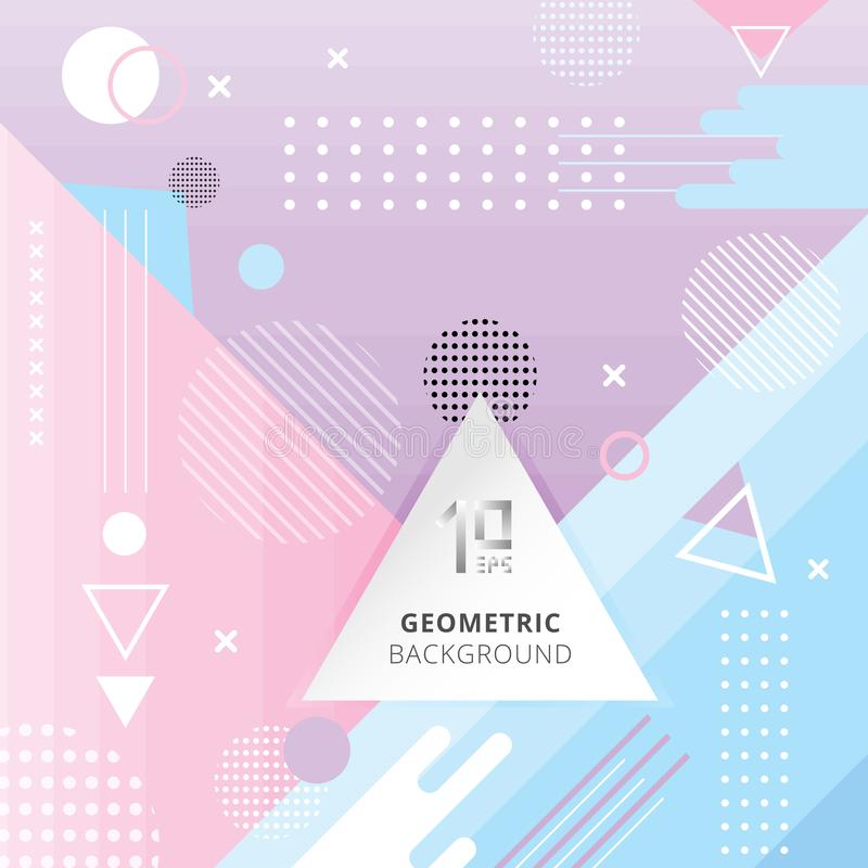 Backgr liso geométrico na moda abstrato do estilo da cor pastel do teste padrão ilustração royalty free