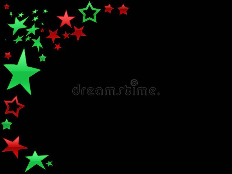 Backgr rosso e verde della pagina della stella illustrazione di stock