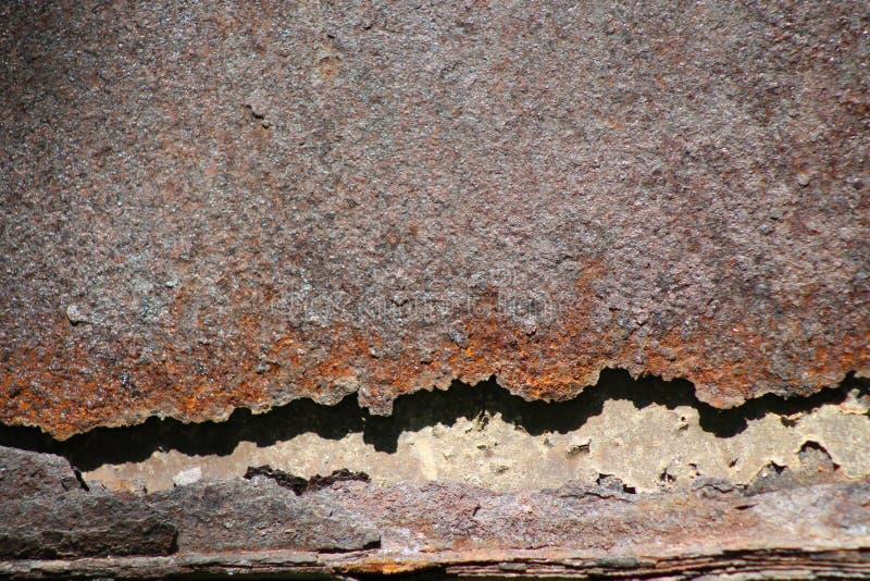 Backgraund, όμορφο, σκουριασμένο μέταλλο στοκ εικόνα