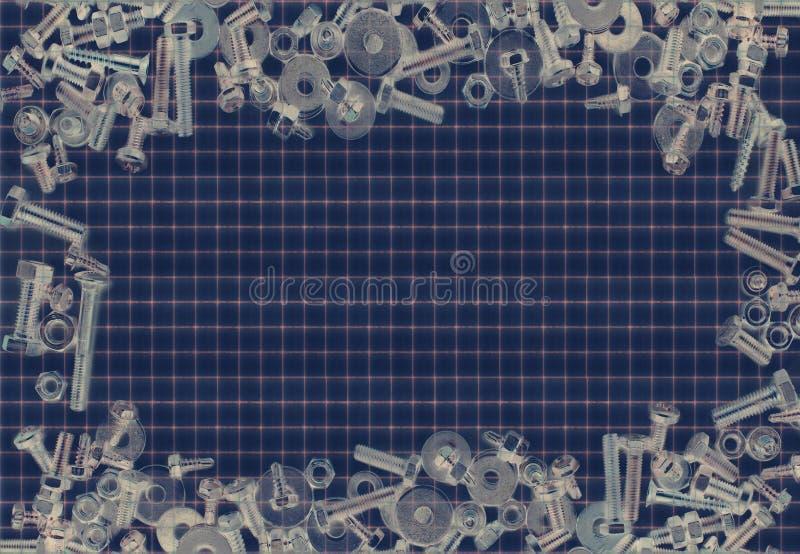 Backgraund винта и болтов стоковое изображение rf