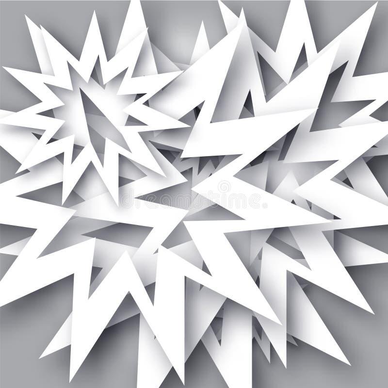 Backgraund abstracto del copo de nieve fotos de archivo