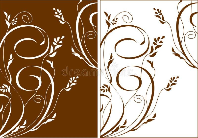 backgraund blommar swirls vektor illustrationer