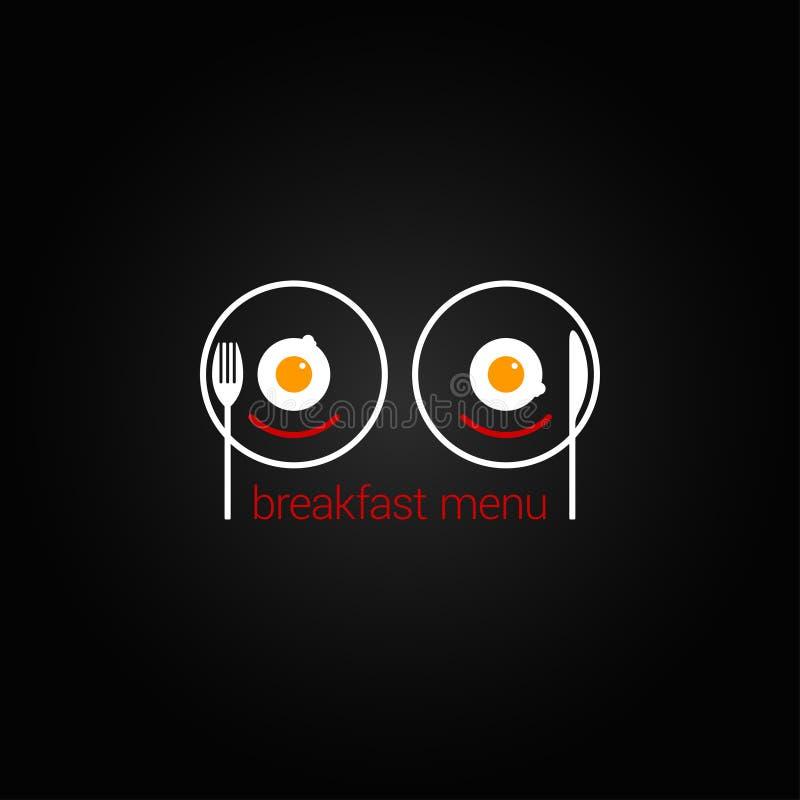 Backgraund brouillé de conception de menu de nourriture de petit déjeuner illustration de vecteur