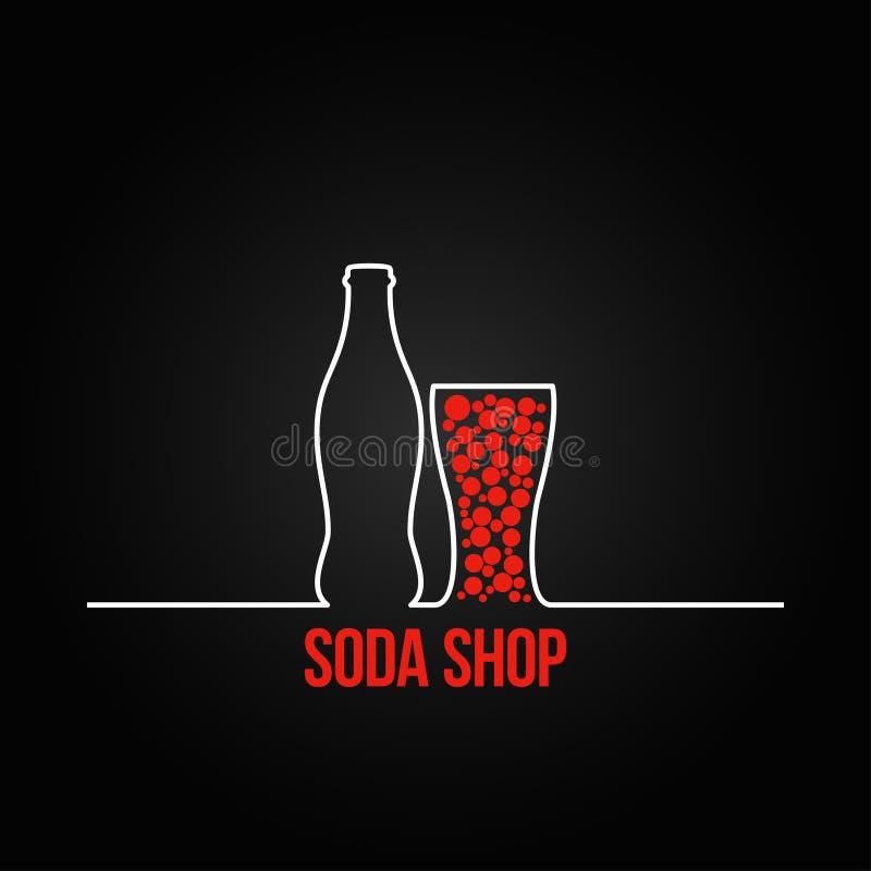 Backgraund de menu de conception d'éclaboussure de bouteille de soude illustration stock