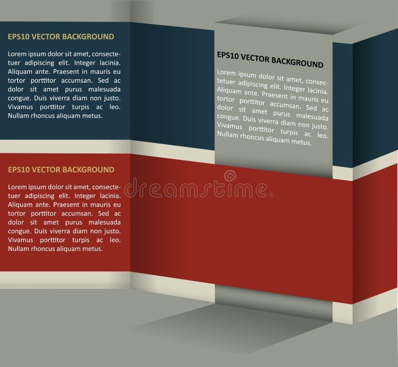 Backgraund retro abstrato do vetor ilustração royalty free