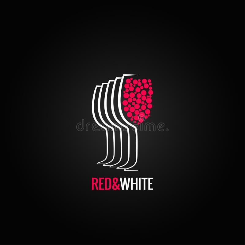 Backgraund rouge et blanc en verre de vin illustration de vecteur