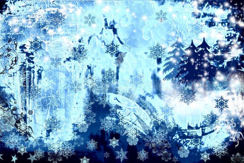 Backgro astratto di inverno del grunge illustrazione di stock