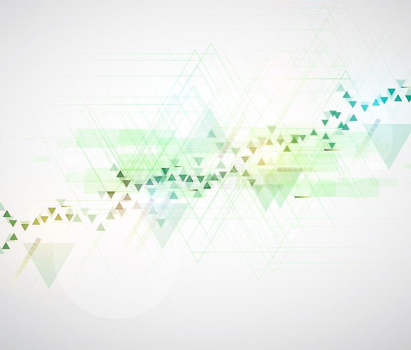 Backgro de alta tecnología del concepto de la informática del infinito del verde del eco ilustración del vector