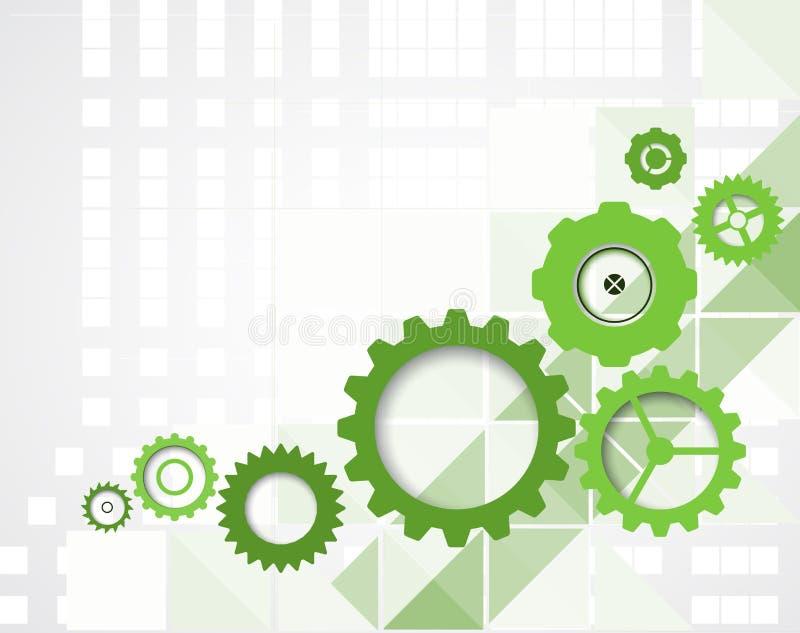 Backgro de pointe de concept d'informatique d'infini de vert d'eco illustration de vecteur