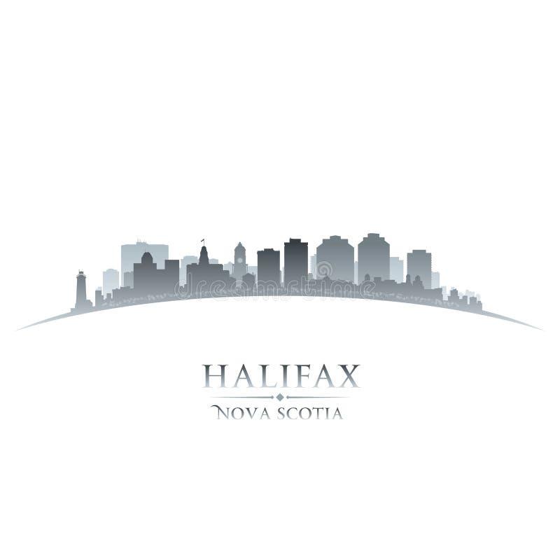 Backgro del blanco de la silueta del horizonte de la ciudad de Halifax Nova Scotia Canada ilustración del vector