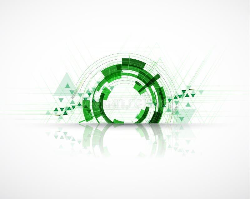 Backgro do conceito da informática da infinidade do verde do eco da alta tecnologia ilustração stock