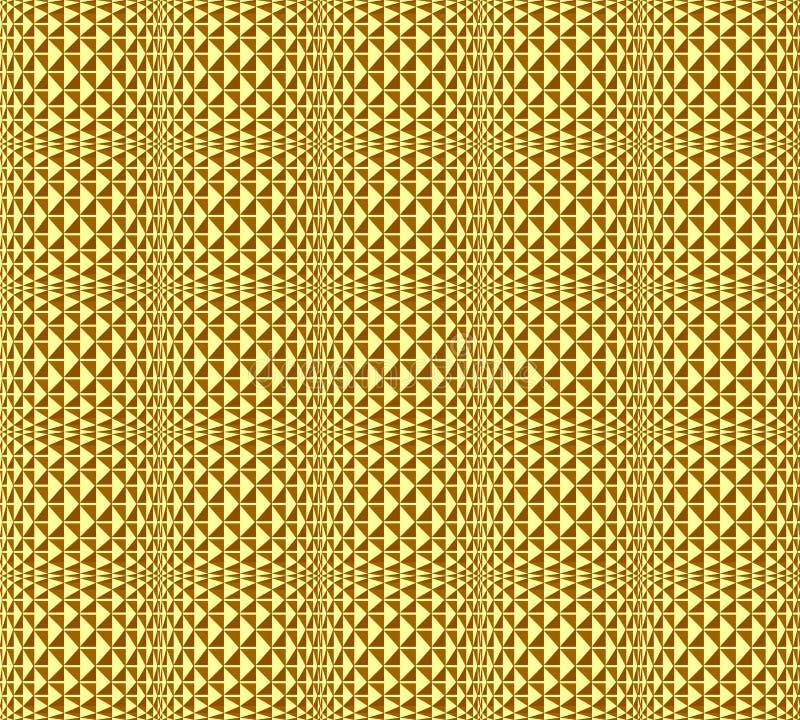 backgro modellato geometrico di struttura senza cuciture dorata royalty illustrazione gratis