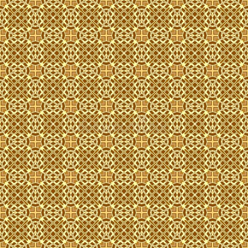 backgro modellato geometrico di struttura senza cuciture dorata illustrazione di stock