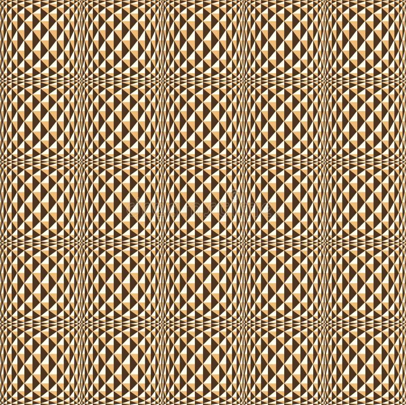backgro modellato geometrico di struttura senza cuciture dorata illustrazione vettoriale