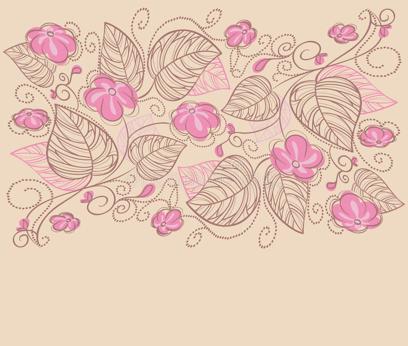 Backgrond floral ilustração stock