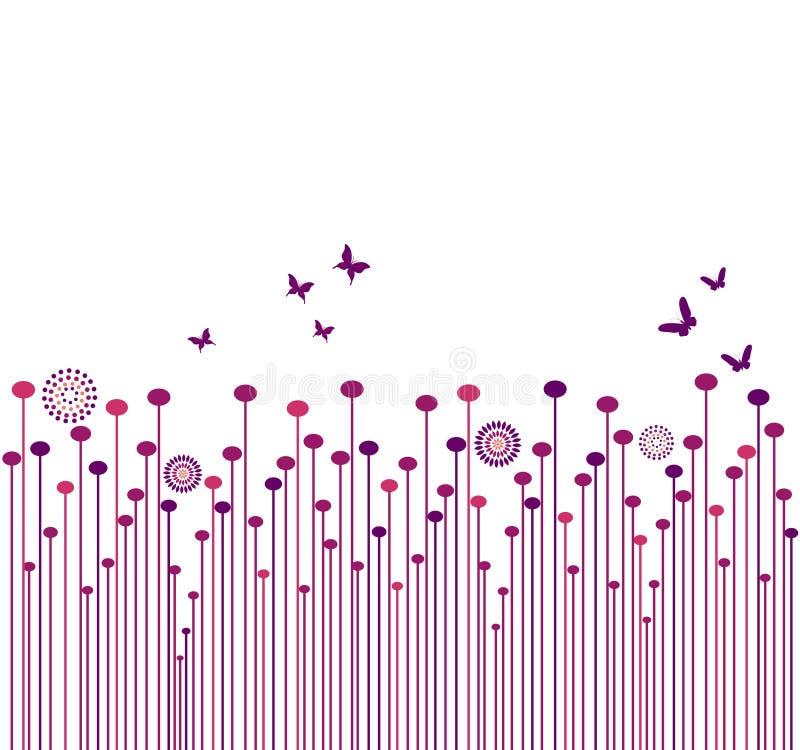 Backgrond met vlinder royalty-vrije illustratie