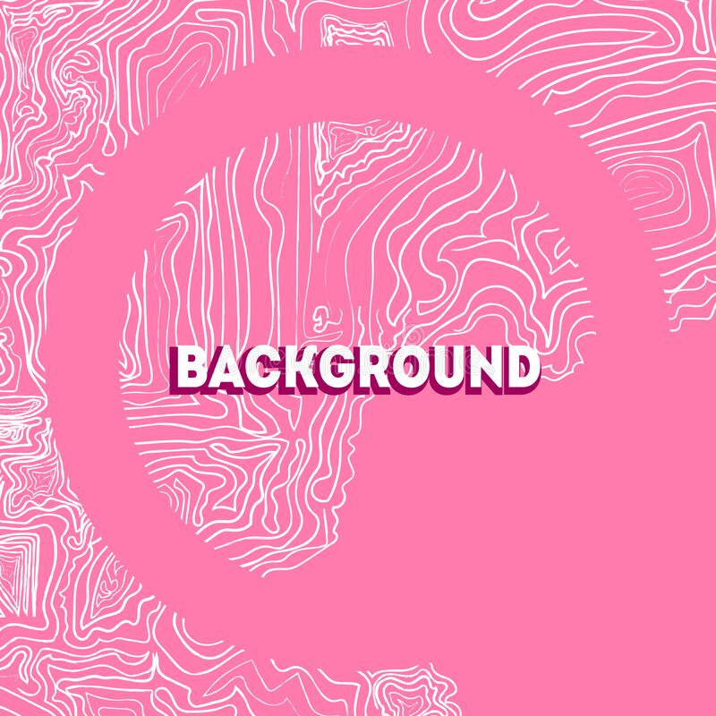 Backgrond Pink Wave. Hand drawing. Vector illustration royalty free illustration