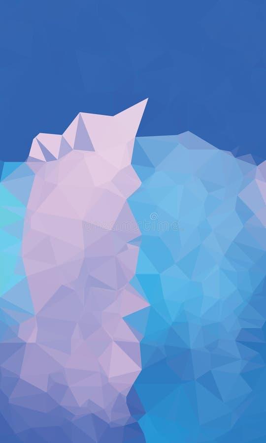 Backgroound poligonal colorido fotografia de stock royalty free