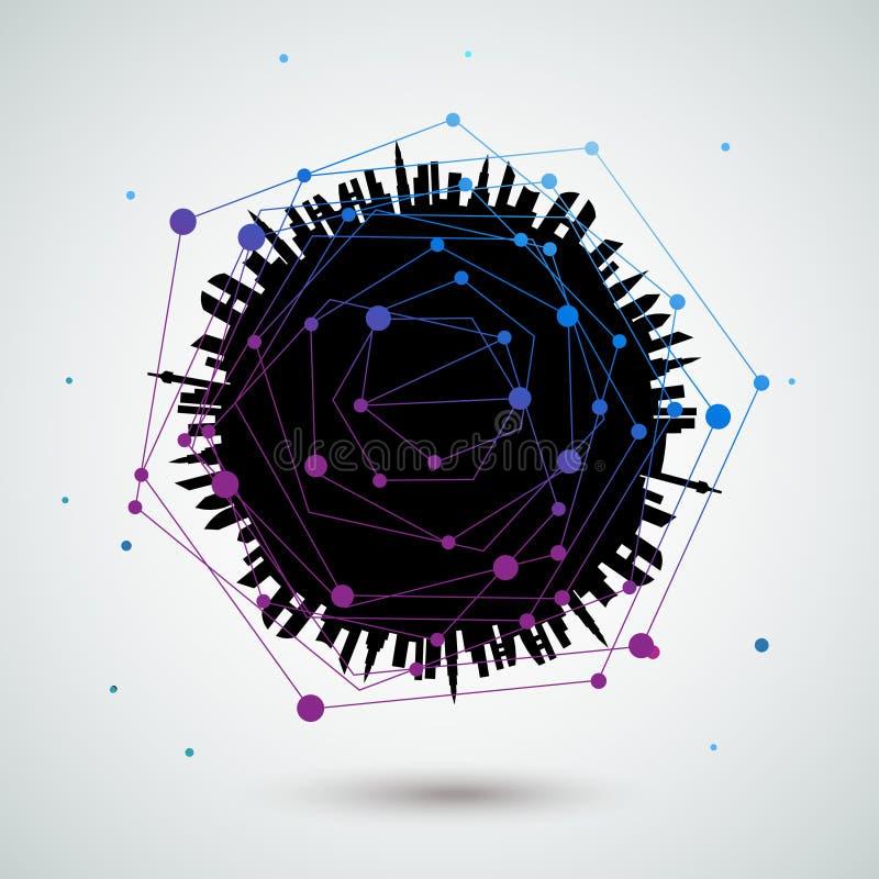Backgrou abstrait de vecteur de connexions réseau de globe illustration de vecteur