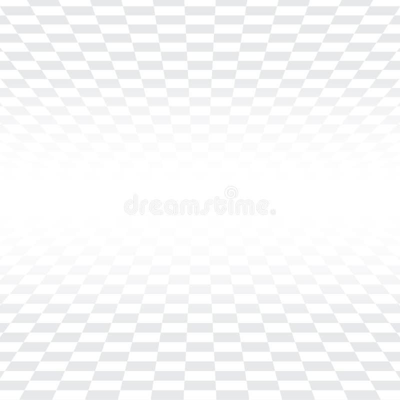 Backgrou branco e cinzento da perspectiva quadrada abstrata da telha da textura ilustração royalty free
