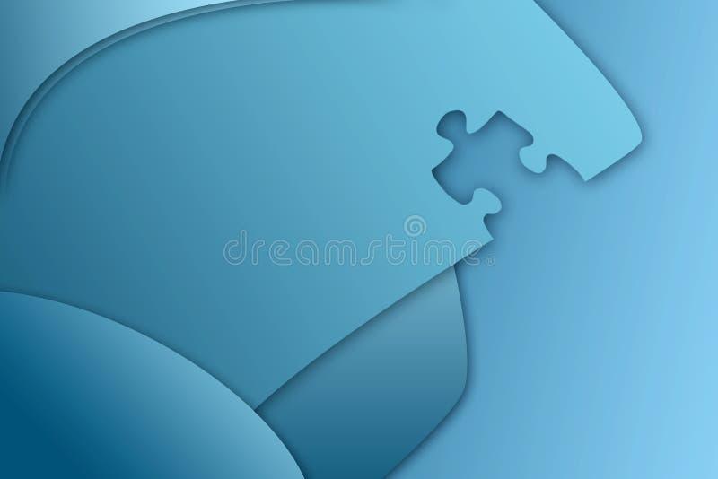Backgrou D Affaires De Partie De Puzzle Photo libre de droits