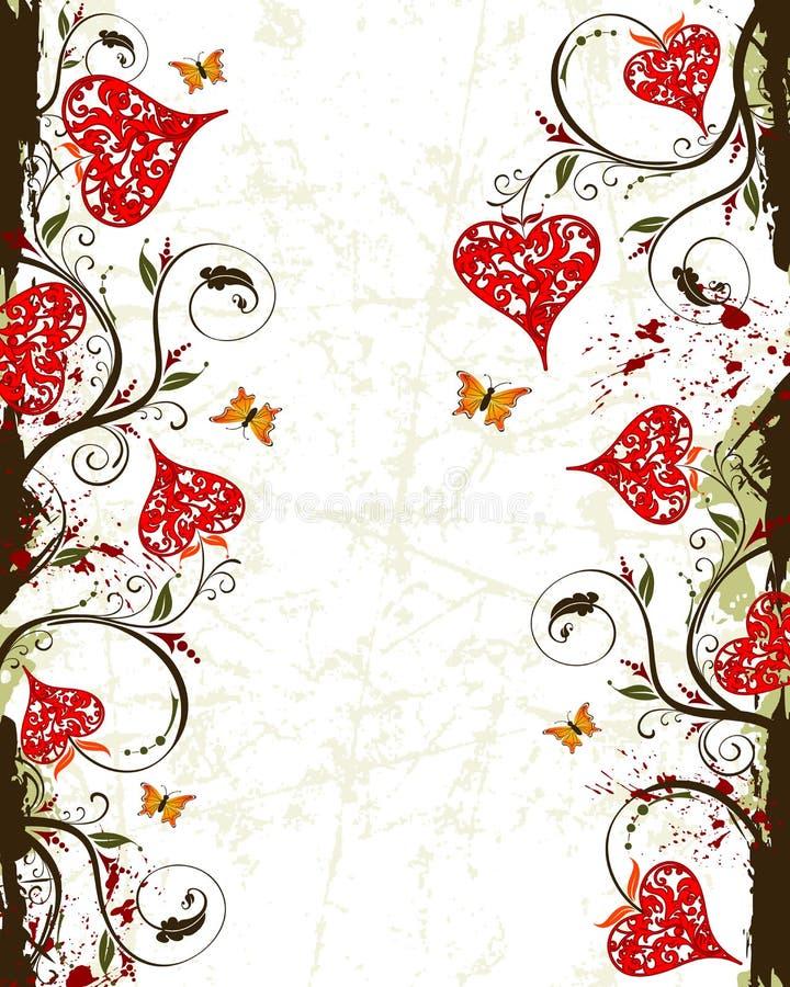 Backgrou del grunge del día de tarjetas del día de San Valentín libre illustration