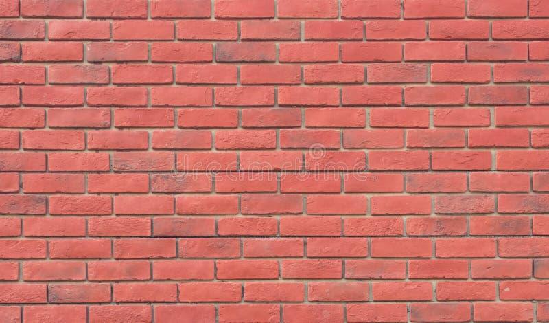 Backgrou meravigliosamente sistemato marrone-rosso di struttura del muro di mattoni del blocco immagini stock libere da diritti