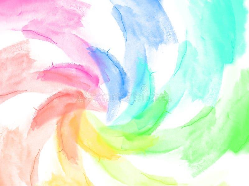 Backgroud abstrait de couleur d'eau illustration de vecteur