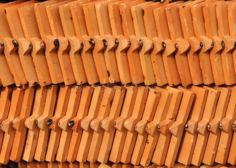 Backgroud arraged de configuration de tuile de toit photo stock