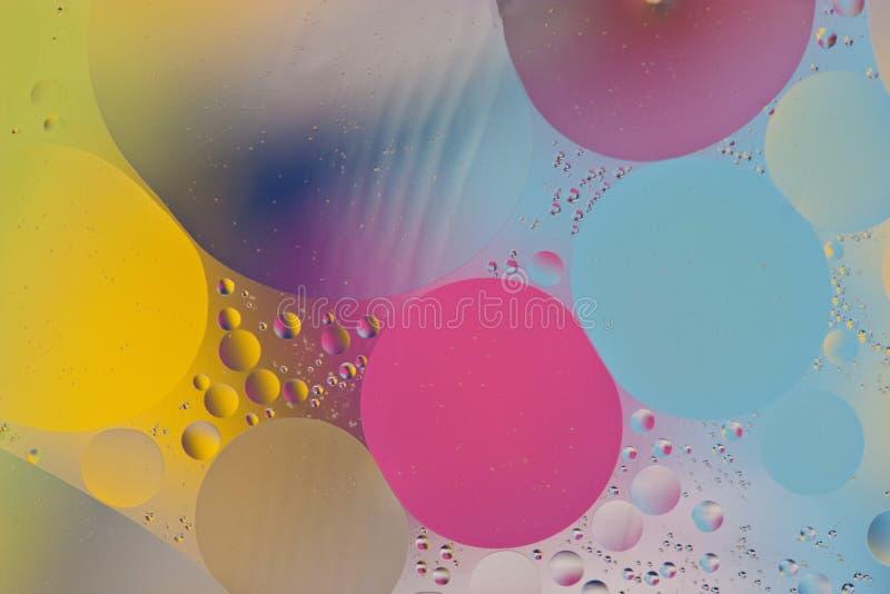 Backgroud de mezcla del agua y del aceite imagen de archivo