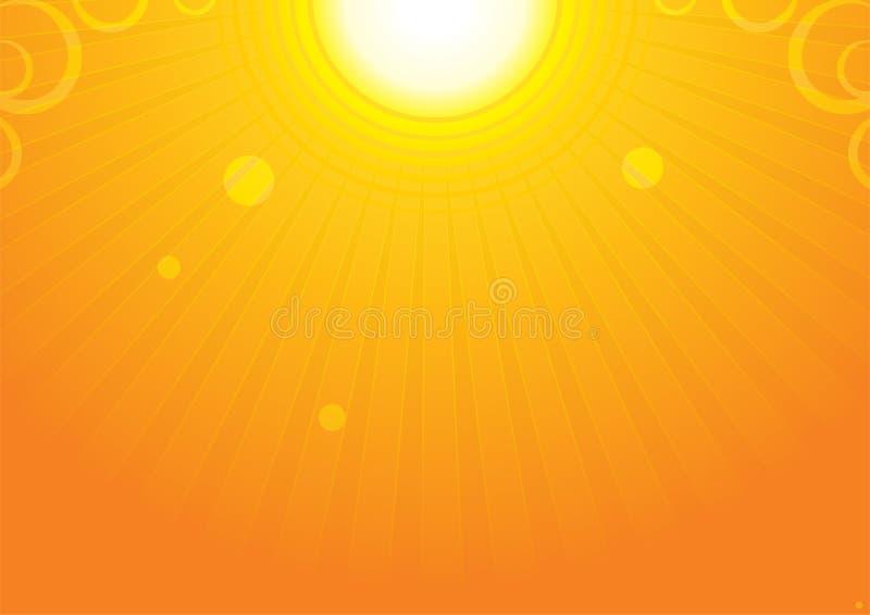 Backgroud de Sun illustration stock