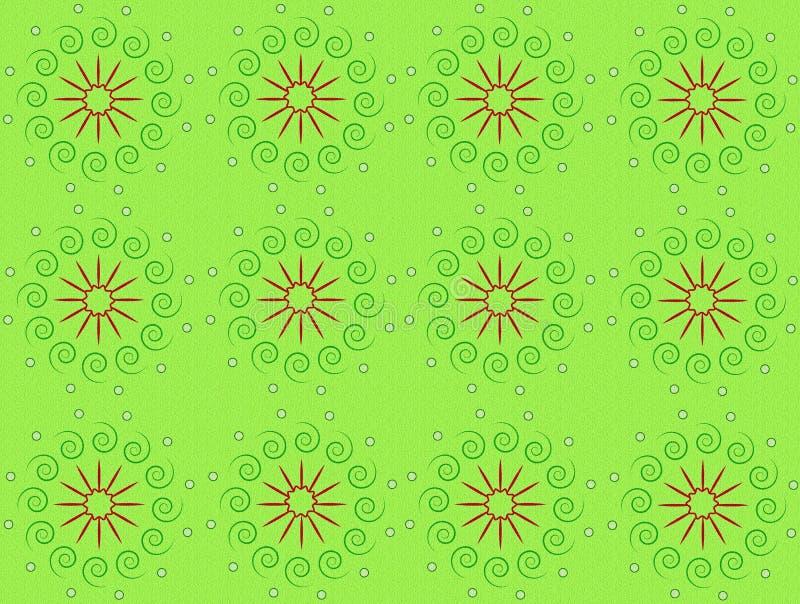 Backgroud decorativo de Gree Fundo modelado verde natural na textura ilustração stock