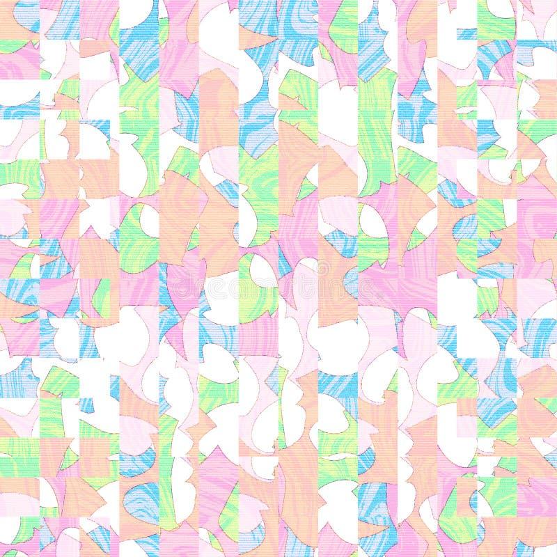 Backgroud fresco del arte del extracto digital colorido del color en colores pastel stock de ilustración