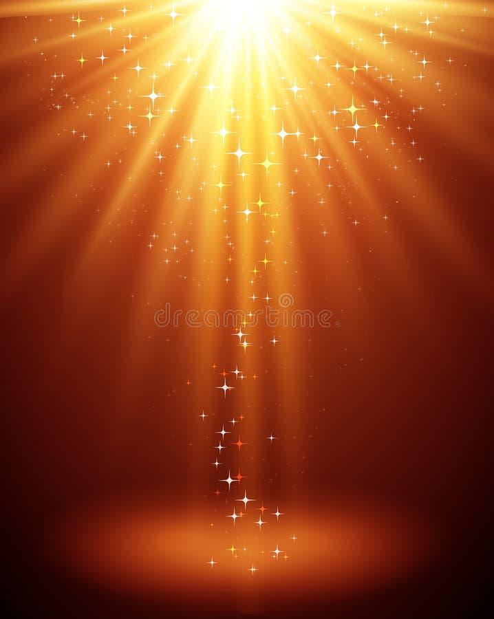 Backgroud ligero mágico abstracto con la estrella libre illustration