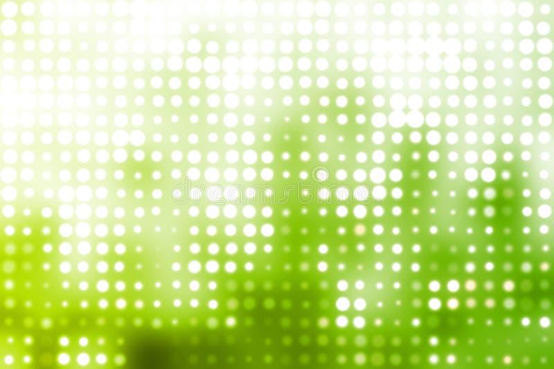 backgroun未来派发光的绿灯白色 向量例证