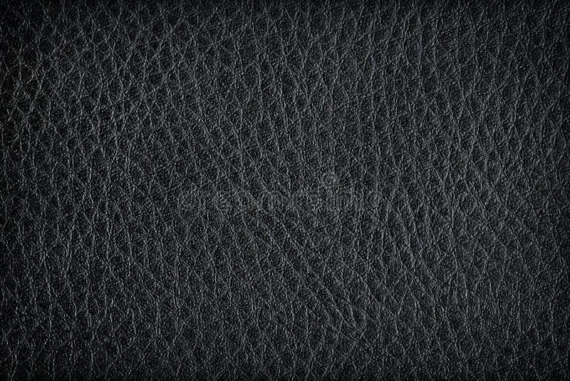 backgroun的黑皮革纹理 库存图片