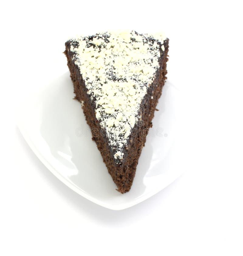 backgroun蛋糕choco巧克力白色 免版税库存图片