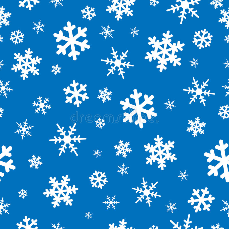 backgroun άνευ ραφής snowflakes απεικόνιση αποθεμάτων