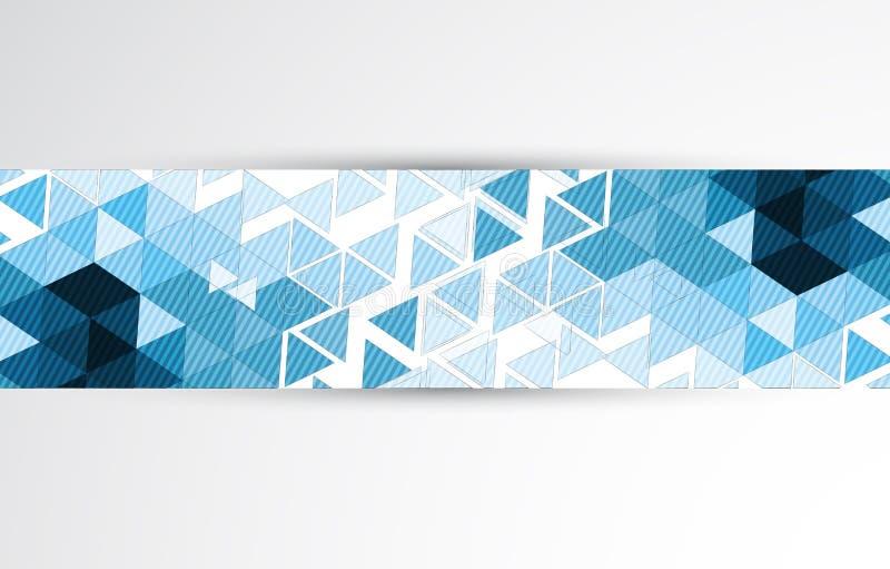 Backgroun abstracto del negocio de la tecnología de la calculadora numérica del triángulo stock de ilustración