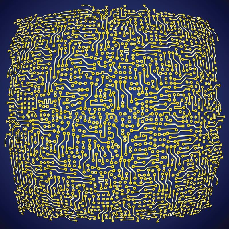 Backgroun abstracto electrónico de la placa de circuito del vector ilustración del vector
