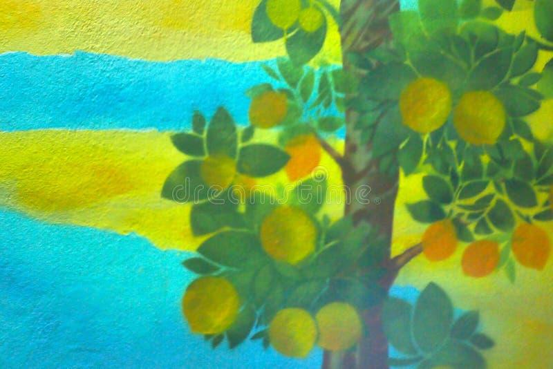 Backgroun abstrait et coloré de tache floue de vintage photos stock